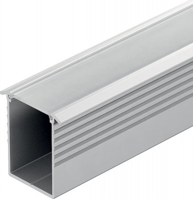 Aluminium profile, LOOX LED flexible recessed strip, depth 11 mm, 2500 mm, milky