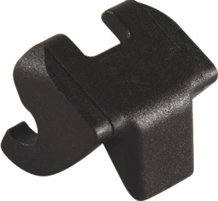 Opening angle restraint, for limiting opening angle of 107ø to 90ø, free flap, black