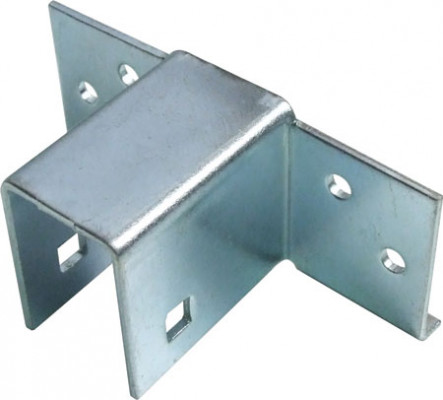 Bed fittings, bed plinth connector, steel -galvanised
