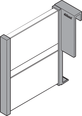 ORGA-LINE lateral divider, for TANDEMBOX, NL=100 mm, metalic grey