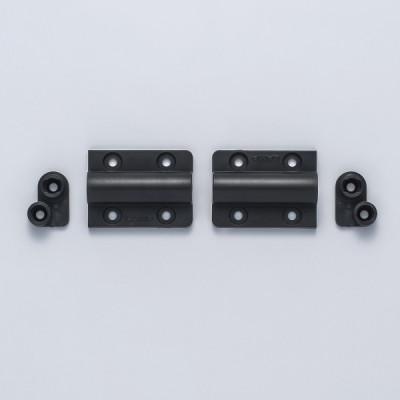 Mini damper hinge, self open, black
