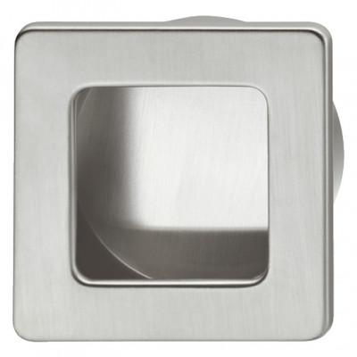Inset handle, glue fixing, W=50 mm, Ø 44.5 mm, square, Saul, matt nickel