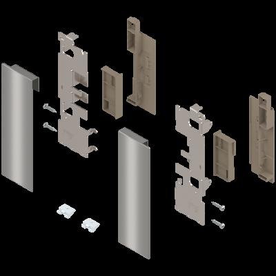 LEGRABOX, inner pull-out, design element, height C (177 mm), left+right, stainless steel