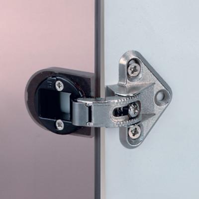 Glass door hinge, 92ø adjustable, sprung, adjustable from 10ø to 45ø,for inset doors
