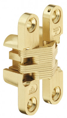 Soss hinge, concealed mortice, model 101, zinc alloy body, steel links, brass