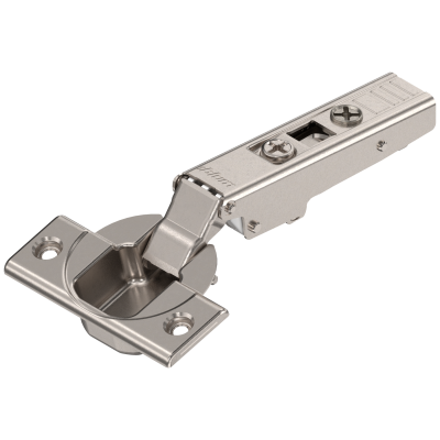 CLIP top hinge 110°, OVERLAY, sprung, boss: SCREW-ON, nickel