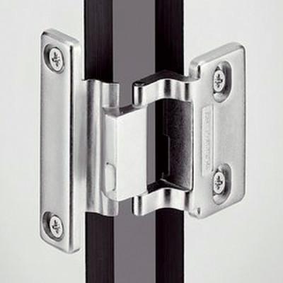 Specialist hinge, 240ø, grade 304 stainless steel, thin doors, half overlay, screw fixing