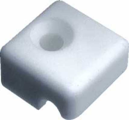 Fastening block, for straight laundry baskets, white RAL 9010