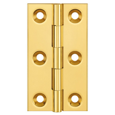 Butt hinge (unwashered), brass, 75x42 mm,  antique brass