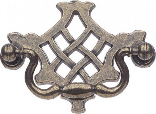 Drop handle, zinc alloy, fixing centres 64 mm, richmond, antique brass