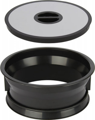 Worktop waste bin, for mounting in ø 276 mm hole, bin bag holder, black plastic