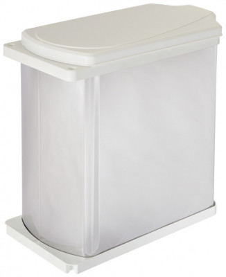 Waste bin, 18 litres, hailo uno 3418-00, for cabinet width 450 mm, stainless steel