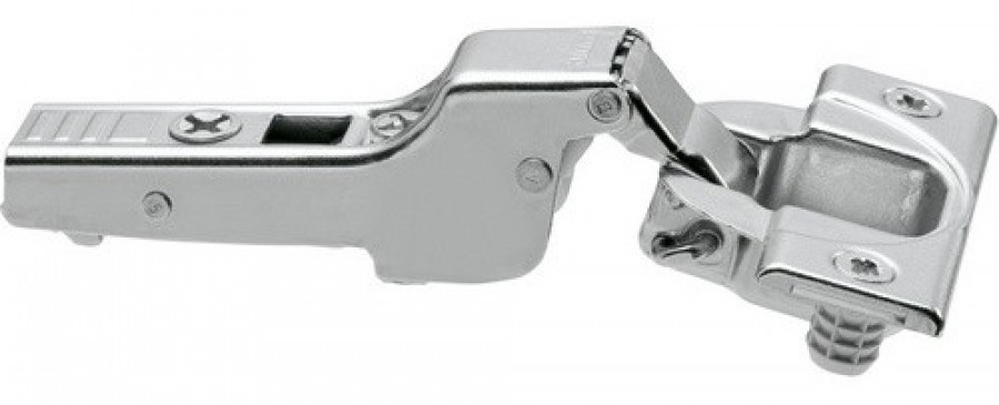 CLIP top standard hinge 110°, dual application,sprung, boss: knock-in