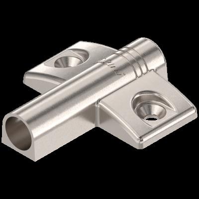 TIP-ON cruciform BLUMOTION adapter, zinc diecast, nickel