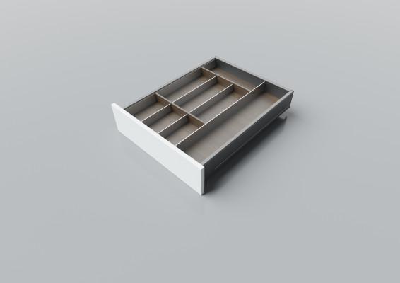 Cutlery divider for LEGRABOX/TA'OR C=400-550 mm, NL=600 mm, walnut