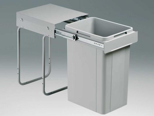 Big bio waste bin, CW=300 mm, 32 litre, single recycler, WESCO, grey