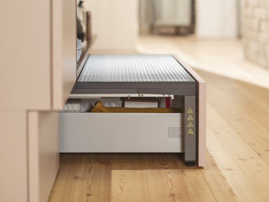 SPACE STEP pre-assembled, LEGRABOX=450mm, H=200 mm, CW=1200 mm, orion grey