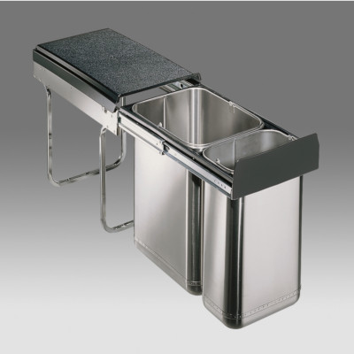 Master hinged recycler, CW=300 mm, 30 litre, WESCO, stainless steel