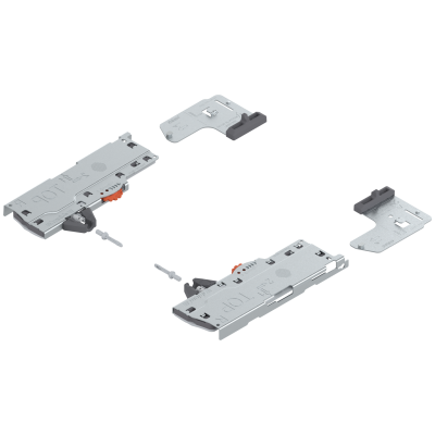 TIP-ON BLUMOTION (unit+latch) for LEGRABOX/MOVENTO, type S1, NL=270-320 mm, up to 10-20 kg