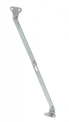Flap stay, with slotted centre joint, L=150 mm