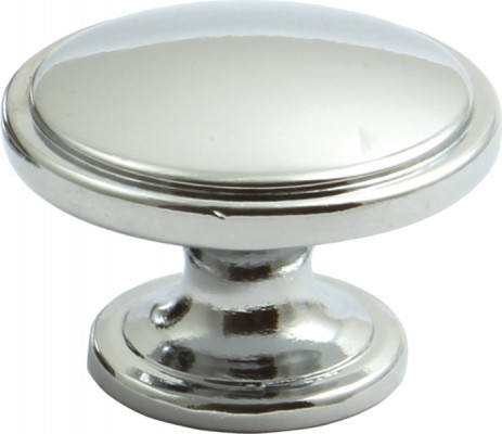 Knob, zinc alloy, ø 38 mm, henrietta, stainless steel effect