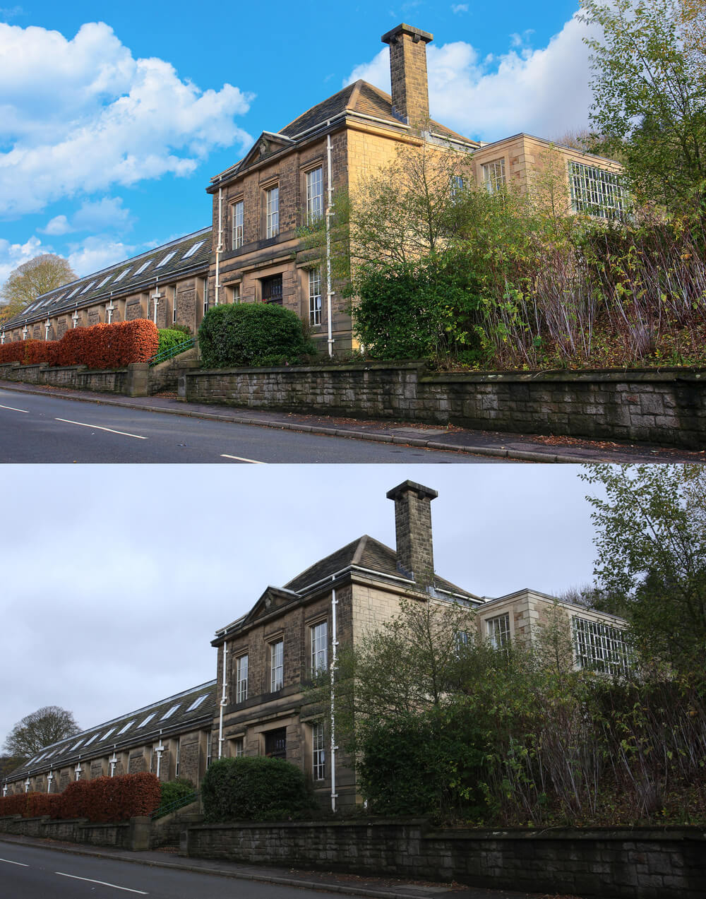 a traditional building converted to apartments near ladybower in the peak district
