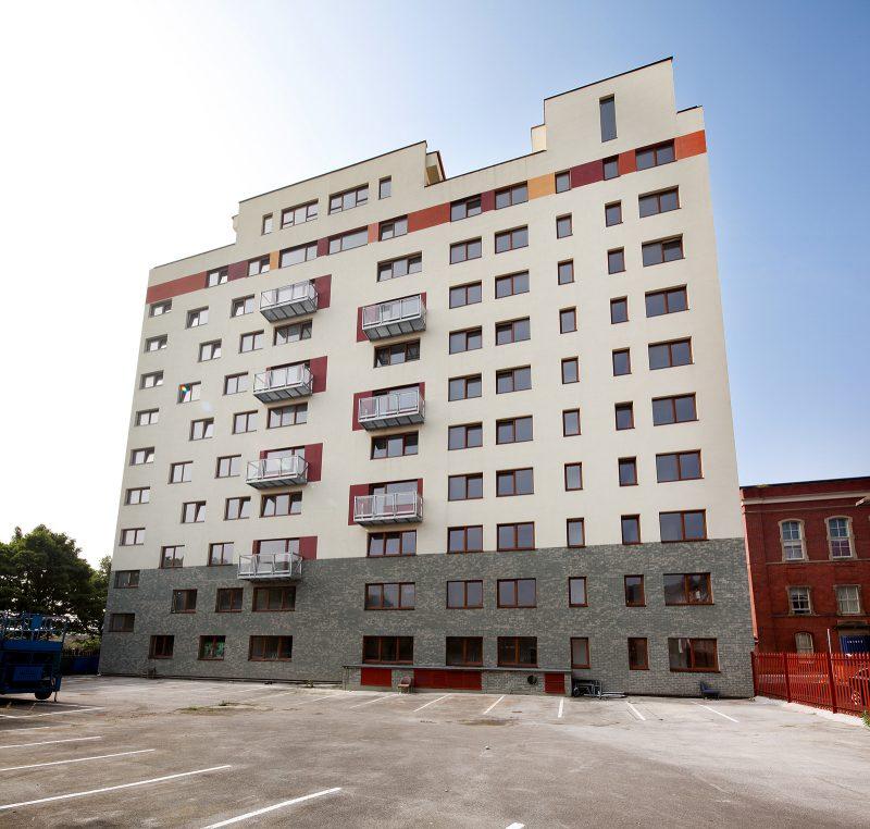 Ashton, manchester, apartment block, new build