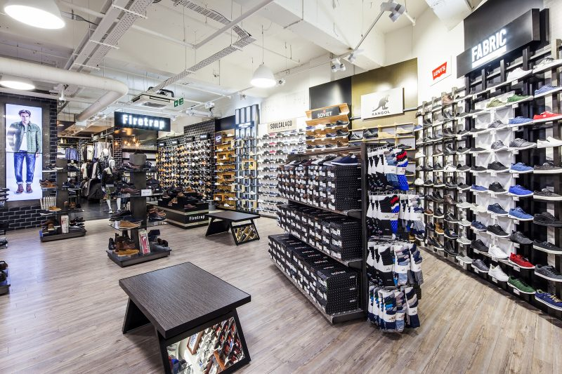 sports direct, shop, shoe shop, interior shop, shop interior