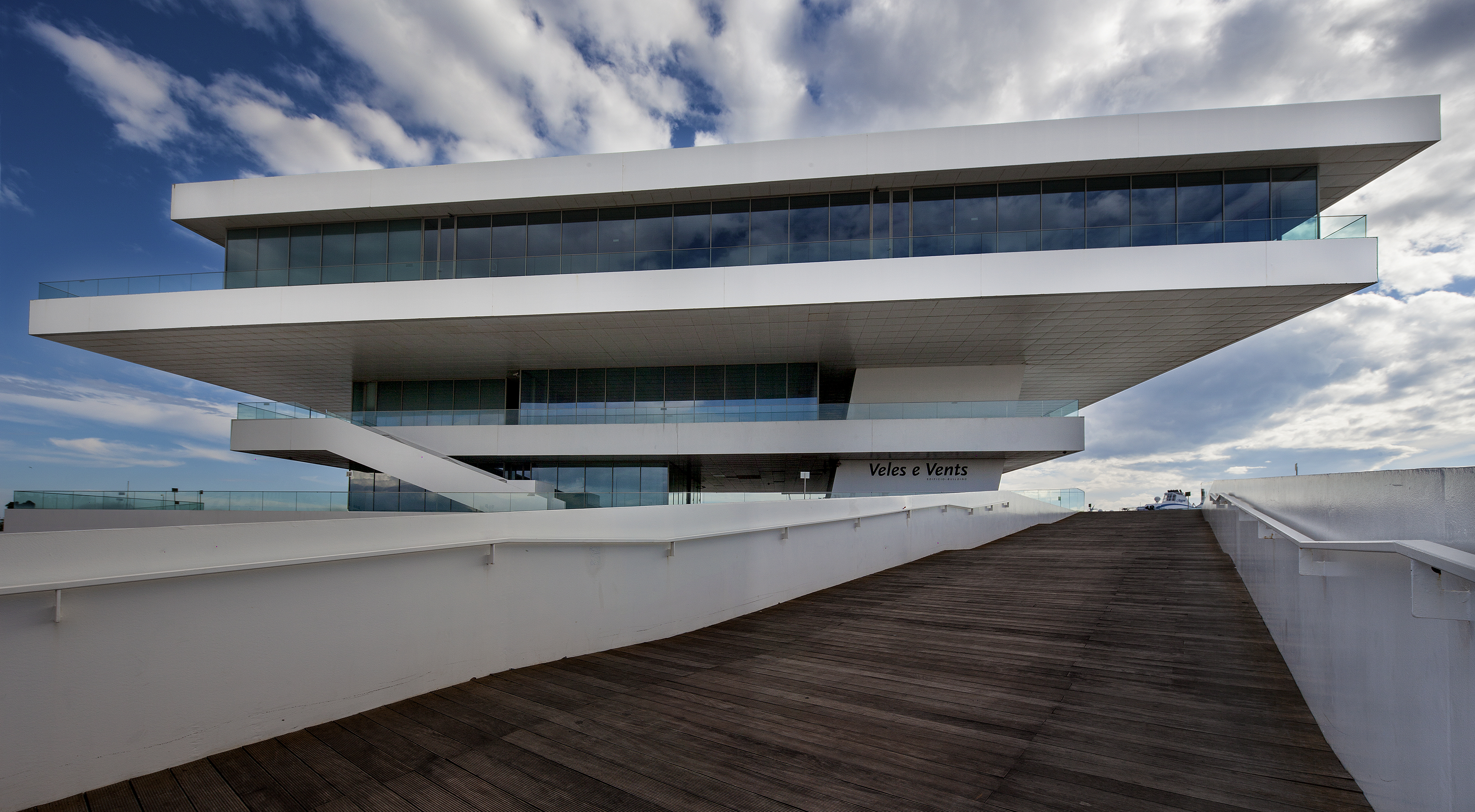 Veles e Vents is a building built for the American Cup yacht race in Valencia by architect David Chipperfield