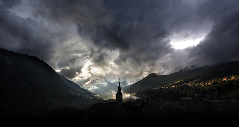 chatel, france, alps, french alps, storm, landscape photography