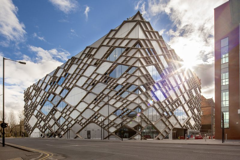 sheffield, architecture, glass, unversity