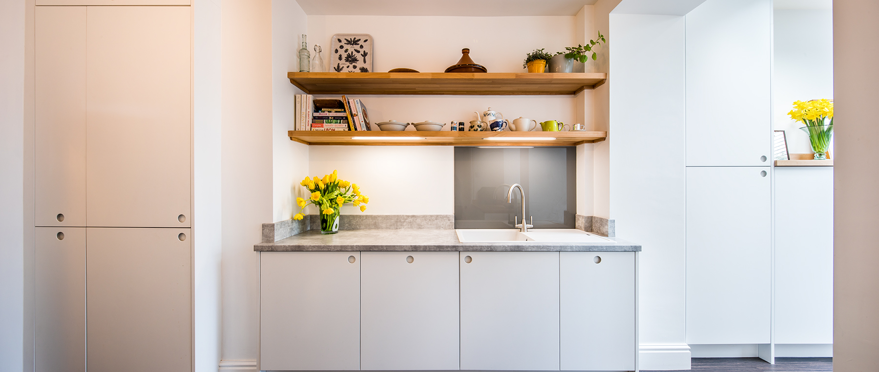 kitchens, sheffield, sustainable, interior photography, white room, property