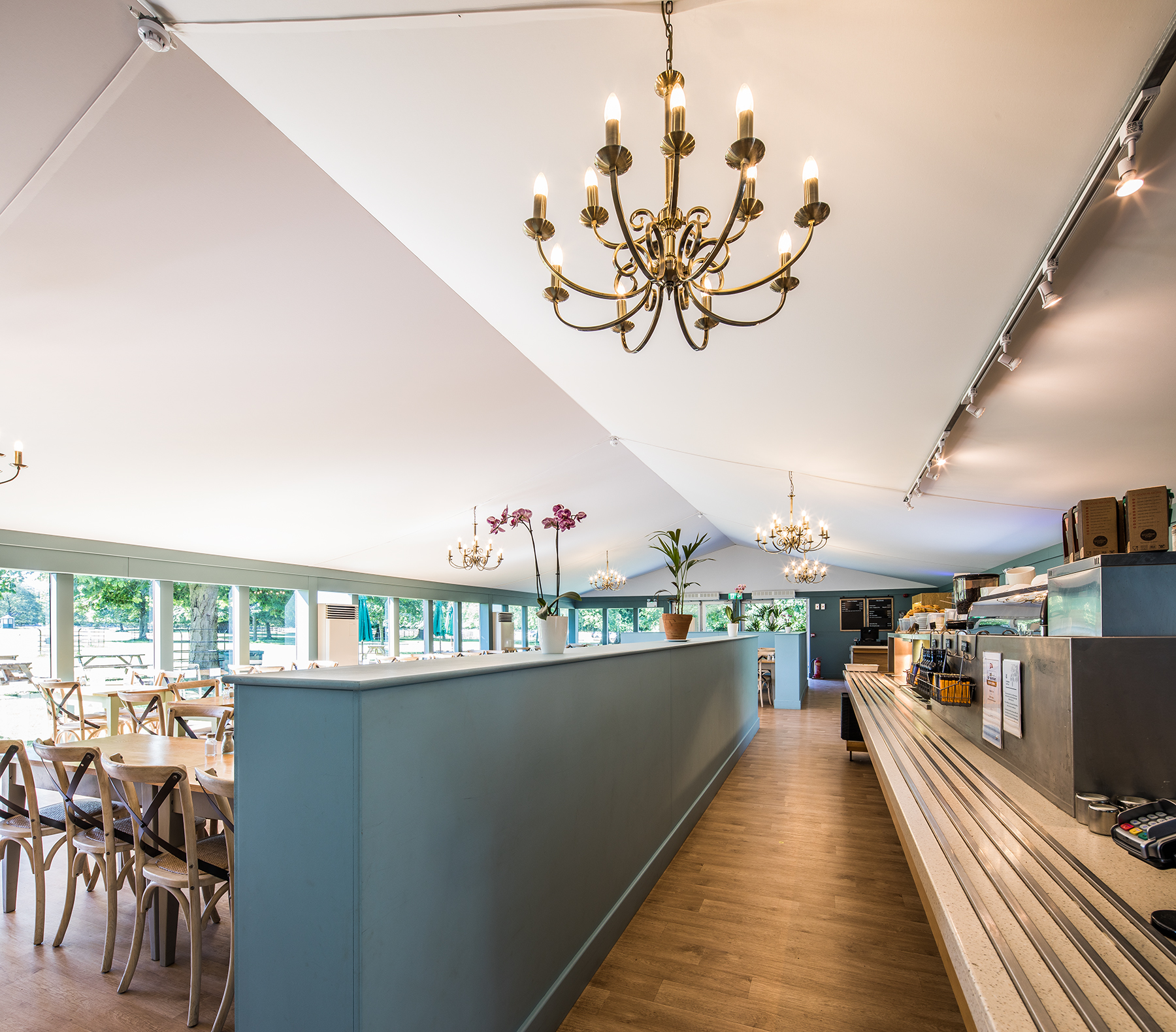 Deboer, Grantham, Cafe, Interior photography, architecture photography, temporary structure, Midlands