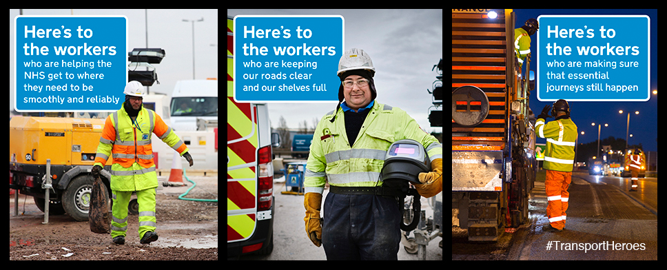 images showing our workers on the network