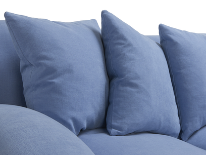 Crumpet sofa - feather filled back cushions