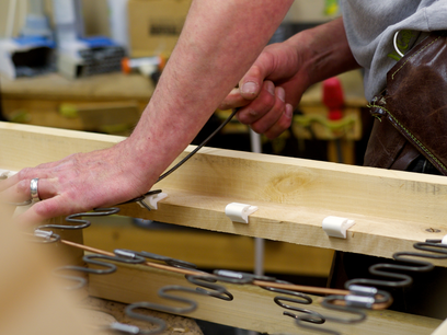 Sofa being handmade in Nottinghamshire