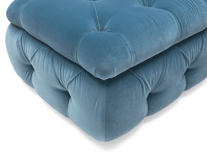 Stasher buttoned storage footstool