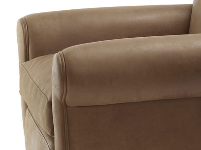 Club armchair with curved arms