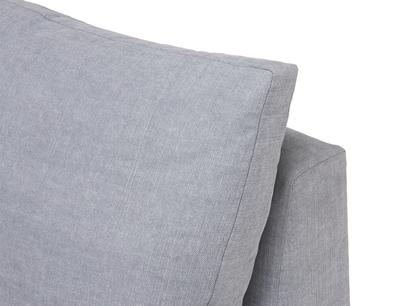 Cuddlemuffin sectional sofa single seat back detail
