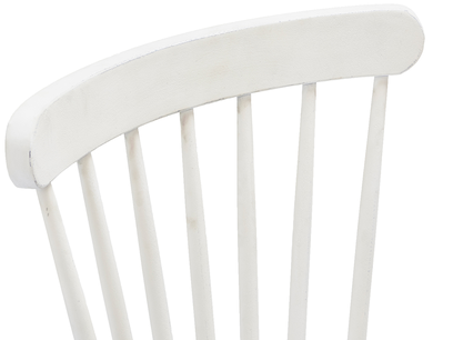 Natterbox spindle back kitchen chair in Calm White