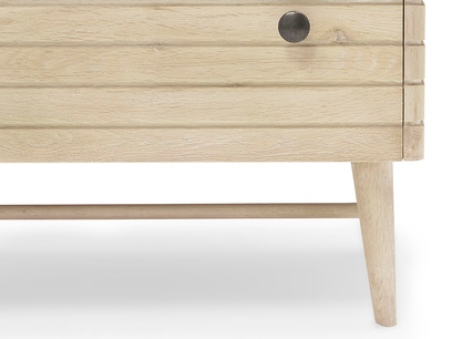 Little Bubba small wood shelving unit frong detail