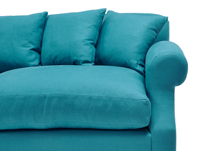 Crumpet squishy scatter back sofa bed front detail