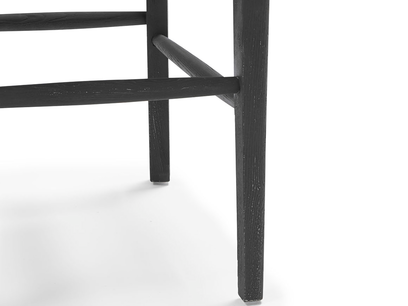 Idler wood kitchen chair in Charcoal leg detail