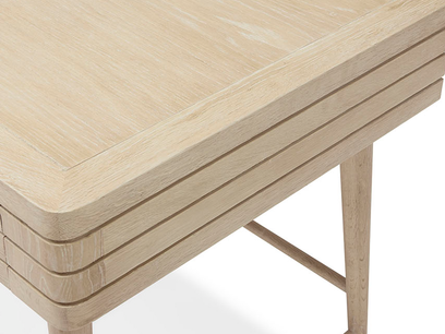 Clever Bubba wooden desk top detail