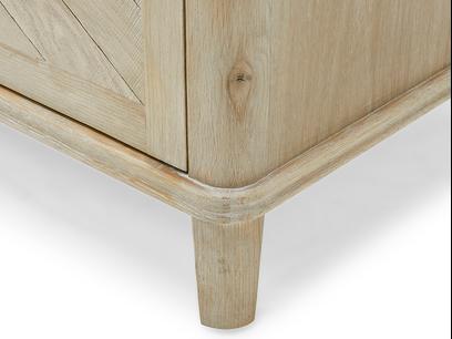 Grand Fandangle wooden sideboard leg detail