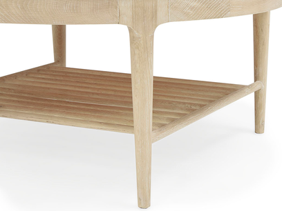 Marmo coffee table with marble top leg detail