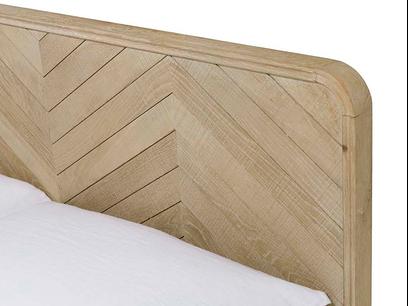 Flapper wooden oak parquet style bed