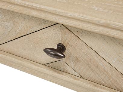Fab Flapper wooden parquet desk handle detail