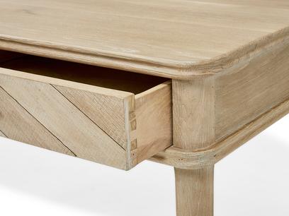 Fab Flapper parquet wood dressing table drawer detail
