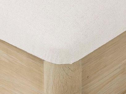 Lippy dressing table stool oak corner detail